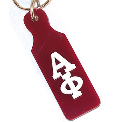 Alpha Phi Mirror Paddle Keychain - Craftique cqMPK