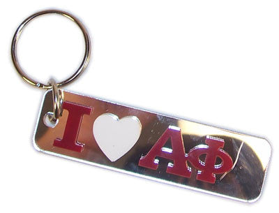 Alpha Phi I Love Keychain - Craftique cqMHK