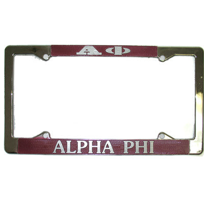 Alpha Phi License Plate Frame - Rah Rah Co. rrc