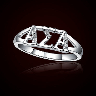 Alpha Sigma Alpha Sorority Ring - GSTC-R001