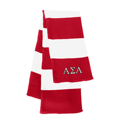 Greek Sorority Rugby-striped Knit Scarf - Sportsman SP02 - EMB