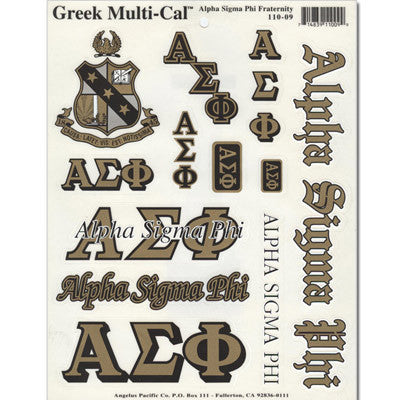 Alpha Sigma Phi Multi-Cal Sticker