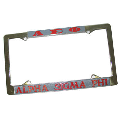 Alpha Sigma Phi License Plate Frame - Rah Rah Co. rrc