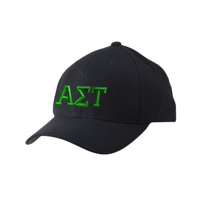 Alpha Sigma Tau Flexfit Fitted Hat - Yupoong 6277 - EMB