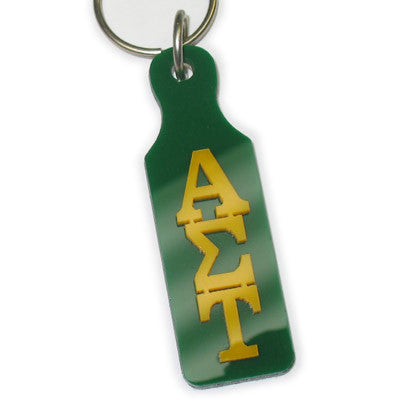Alpha Sigma Tau Mirror Paddle Keychain - Craftique cqMPK