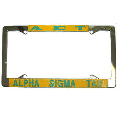Alpha Sigma Tau License Plate Frame - Rah Rah Co. rrc