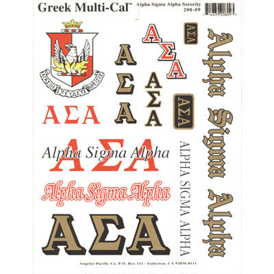 Alpha Sigma Alpha Multi-Cal Stickers