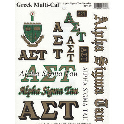Alpha Sigma Tau Multi-Cal Stickers