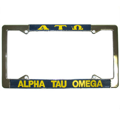Alpha Tau Omega License Plate Frame - Rah Rah Co. rrc