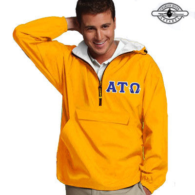 Alpha Tau Omega Pullover Jacket - Charles River 9905 - TWILL