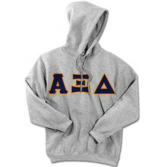 Alpha Xi Delta Standards Hooded Sweatshirt - $25.99 Gildan 18500 - TWILL