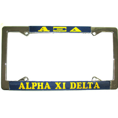 Alpha Xi Delta License Plate Frame - Rah Rah Co. rrc