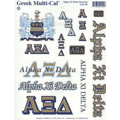 Alpha Xi Delta Multi-Cal Stickers