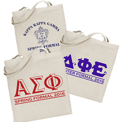 Custom Sorority Formal Printed Budget Tote - Letter - 825 - SUB