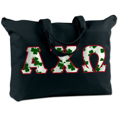 Alpha Chi Omega Shoulder Bag - Bag Edge BE009 - TWILL