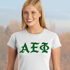 Alpha Epsilon Phi Ladies' Softstyle Printed T-Shirt - Gildan 6400L - CAD