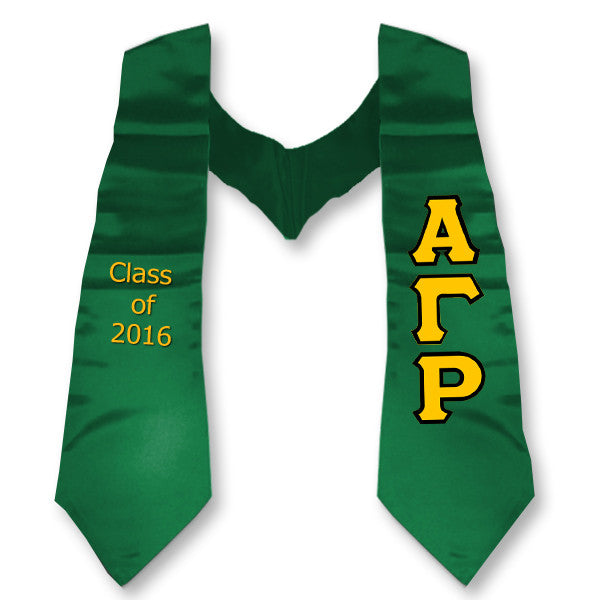 Alpha Gamma Rho Graduation Stole with Twill Letters - TWILL