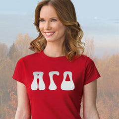 Alpha Gamma Delta Ladies' Softstyle Printed T-Shirt - Gildan 6400L - CAD