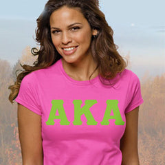 Alpha Kappa Alpha Ladies' Softstyle Printed T-Shirt - Gildan 6400L - CAD