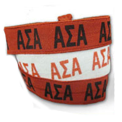 Alpha Sigma Alpha Hair Ties - Scribbles & Such SNS