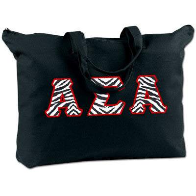 Alpha Sigma Alpha Shoulder Bag - Bag Edge BE009 - TWILL