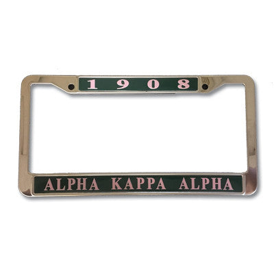 Alpha Kappa Alpha License Plate Frame - Rah Rah Co. rrc