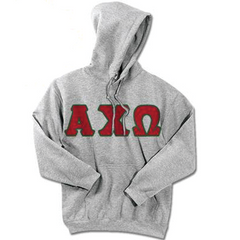 Alpha Chi Omega Standards Hooded Sweatshirt - $25.99 Gildan 18500 - TWILL