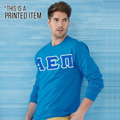 Custom Printed Fraternity Long-Sleeve T-Shirt - Gildan 2400 - DIG