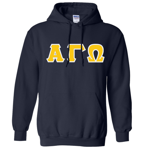 Alpha Gamma Omega Hooded Sweatshirt - Gildan 18500 - TWILL
