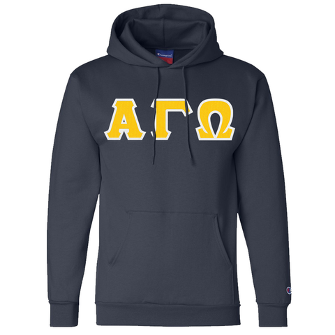 Alpha Gamma Omega Champion Hooded Sweatshirt - Champion S700 - TWILL