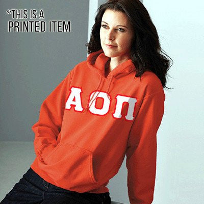 Custom Printed Sorority Hooded Sweatshirt - Gildan 18500 - DIG