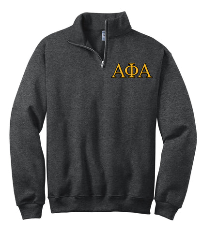 Alpha Phi Alpha Fraternity Embroidered Quarter-Zip Pullover - Jerzees 995M - EMB