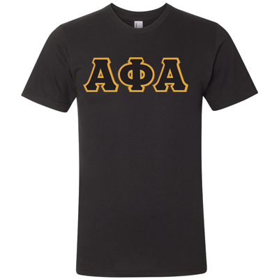 Alpha Phi Alpha American Apparel Jersey Tee with Twill - American Apparel 2001W - TWILL