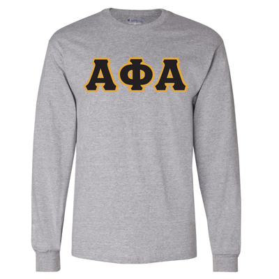 Alpha Phi Alpha Greek Champion Long-Sleeve Tee - Champion CC8C - TWILL