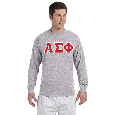 Alpha Sigma Phi Greek Champion Long-Sleeve Tee - Champion CC8C - TWILL