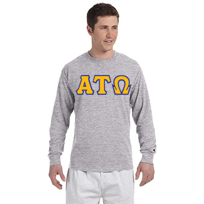 Alpha Tau Omega Greek Champion Long-Sleeve Tee - Champion CC8C - TWILL