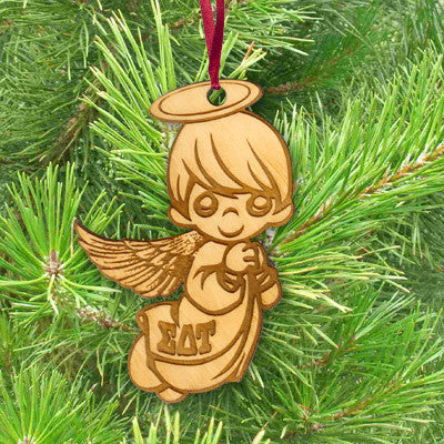 Sorority Engraved Angel Ornament - LZR