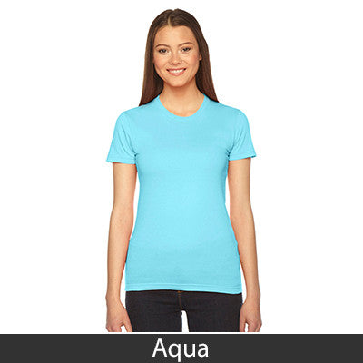 Alpha Chi Omega Embroidered Jersey Tee - American Apparel 2102 - EMB