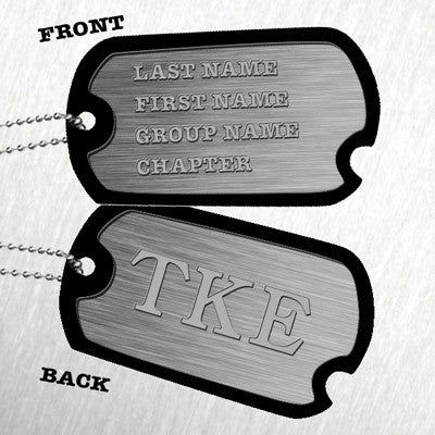 Custom Printed Greek Dog Tag - 530-60