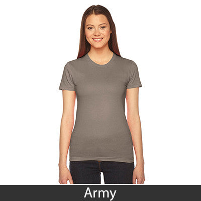 Sorority Jersey Tee with Twill Letters - American Apparel 2102W - TWILL