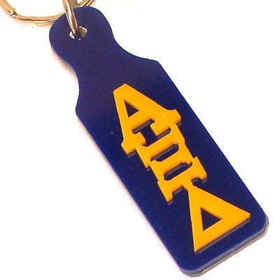 Alpha xi delta mirror paddle keychain greek accessory and gear for Lil flip jewelry collection