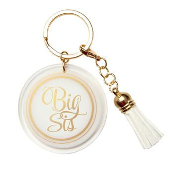Big Sis/Lil Sis Acrylic Shimmer Key Chains - a3005