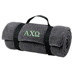 Alpha Chi Omega Fleece Blanket - Port and Company BP10 - EMB