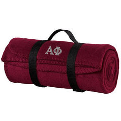 Alpha Phi Fleece Blanket - Port and Company BP10 - EMB