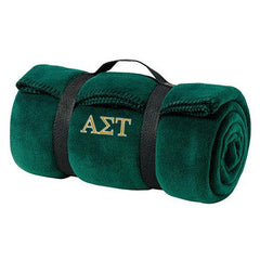 Alpha Sigma Tau Fleece Blanket - Port and Company BP10 - EMB