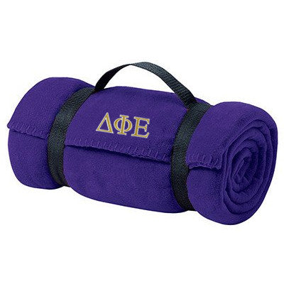 Delta Phi Epsilon Fleece Blanket - Port and Company BP10 - EMB