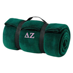 Delta Zeta Fleece Blanket - Port and Company BP10 - EMB