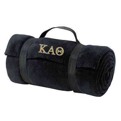 Kappa Alpha Theta Fleece Blanket - Port and Company BP10 - EMB