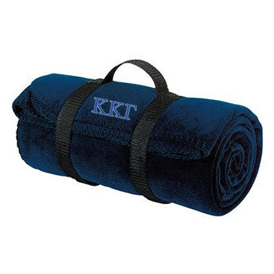 Kappa Kappa Gamma Fleece Blanket - Port and Company BP10 - EMB
