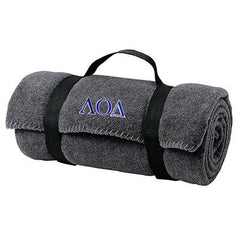 Lambda Omicron Delta Fleece Blanket - Port and Company BP10 - EMB